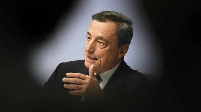 Mario Draghi, le président de la BCE, le 26 octobre, à Francfort.