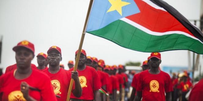 Sixième anniversaire de l'indépendance du Soudan du Sud, le 9 juillet 2017, à Juba.