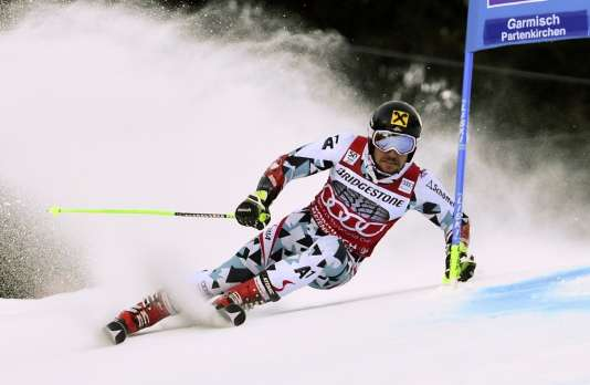 Marcel Hirscher, ici en janvier2017 à Garmisch-Partenkirchen (Allemagne), sera présent pour la reprise de la Coupe du monde de ski alpin.