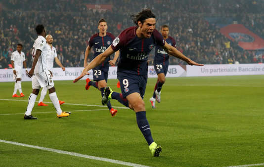 Edinson Cavani a inscrit un doublé contre Nice, vendredi 27 octobre.