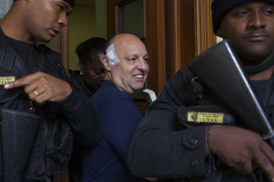 Christophe Naudin quitte la cour de Saint-Domingue, le 17 mai 2017.n