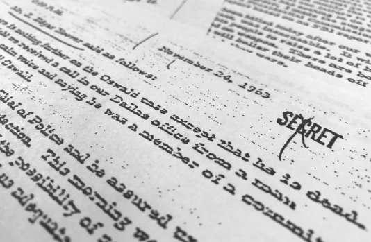 L'un des documents dévoilés au public, daté du 24 novembre 1963.