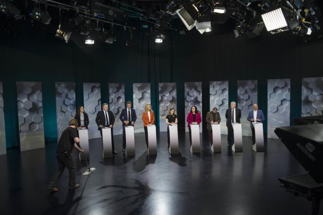 Le dernier débat avant l'élection est sur le point de commencer, à Reykjavik, le 27 octobre.