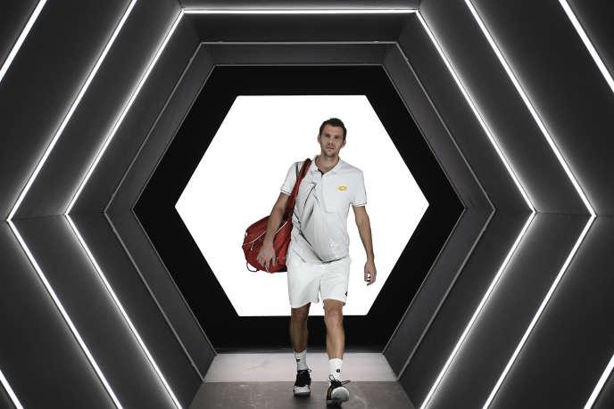 A Bercy, Paul-Henri Mathieu (ici en 2016) va mettre un point final à sa carrière de tennisman professionnel.