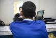Mokrane, 17 ans, lors d'une audition par l'Office français de protection des réfugiés et des apatrides, à N'Djamena, au Tchad, le 26 octobre.