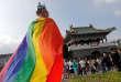 Lors de la gay pride de Taipei, le 28 octobre.
