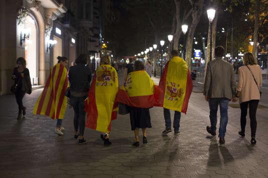 A Barcelone, le 27 octobre.