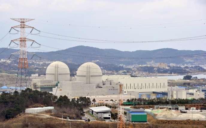 Chantier de construction des réacteurs nucléaires Shin-Kori 3 et 4, à Gori, près de Busan, en Corée du Sud, en 2013.