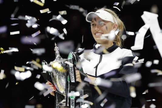 C'est la première fois que Caroline Wozniacki remporte le Masters de tennis.