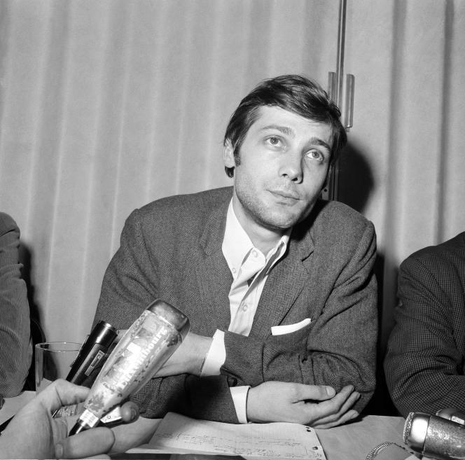 Jacques Sauvageot en mai 1968, alors qu'il était vice-président de l'UNEF.