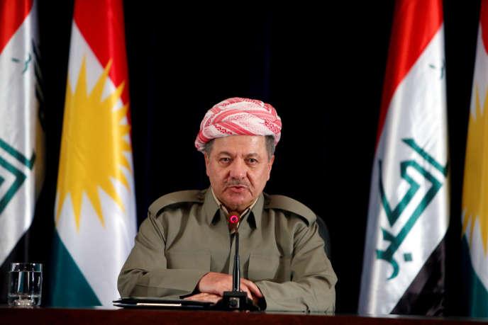 Massoud Barzani à Erbil, au Kurdistan irakien, le 27 septembre 2017.