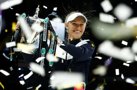 C'est la première fois que Caroline Wozniacki remporte le Masters.