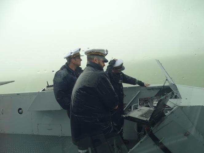 La frégate multimissions «Auvergne», au cours de sa mission en mer de Chine, en octobre.