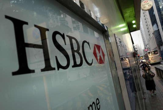 La façade de la banque de HSBC à Hongkong, le 30 octobre 2017.