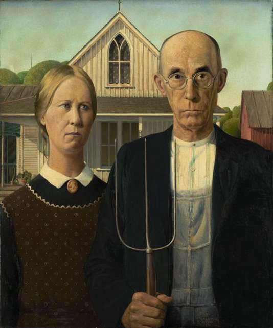 «American Gothic», de Grant Wood (1930), collection Art Institute of Chicago.