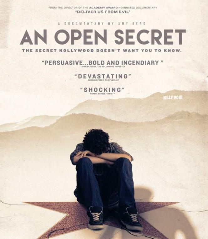 L'affiche du film « An Open Secret » (un secret de Polichinelle, 2015), d'Amy Berg.