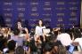 Conférence de presse de Shiori Ito au Club des correspondants de la presse étrangère au Japon, à Tokyo, le 24 octobre.