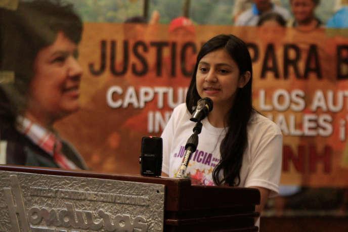 Laura Zuniga, fille de Berta Caceres, le 31 octobre à Tegucigalpa.