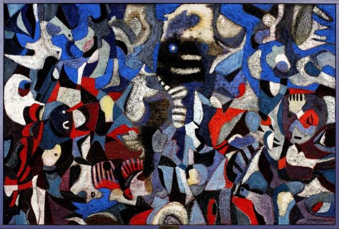 « Musique noire », œuvre d'Emma Reyes (1962).