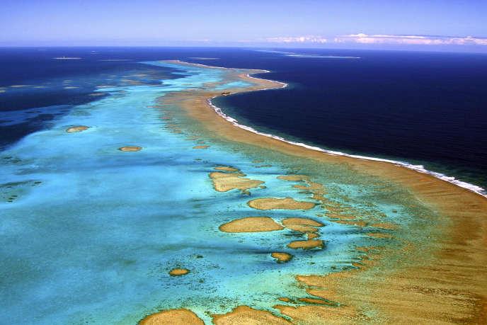 La barrière de corail de Nouvelle-Calédonie, l'une des plus vastes au monde, enjuin2006.