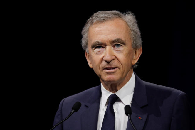 Bernard Arnault, PDG de LVMH - Moët Hennessy Louis Vuitton, est le Français le plus riche.