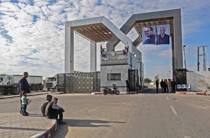 A Rafah, point de passage entre le territoire de Gaza et l'Egypte, mercredi1ernovembre.
