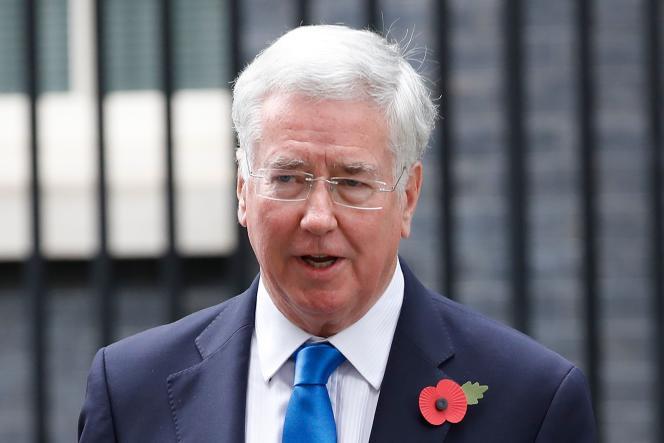Le ministe de la défense britannique, Michael Fallon, en octobre 2017.
