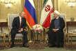 Rencontre officielle entre les présidents russe, Vladimir Poutine, et iranien, Hassan Rouhani, à Téhéran, le 1er novembre 2017.