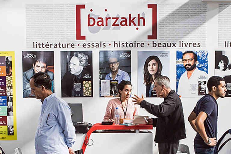 Stand des éditions Barzach lors du 22 ème SILA - salon international du livre d'alger. Un moment incontournable pour le couple d'éditeurs.