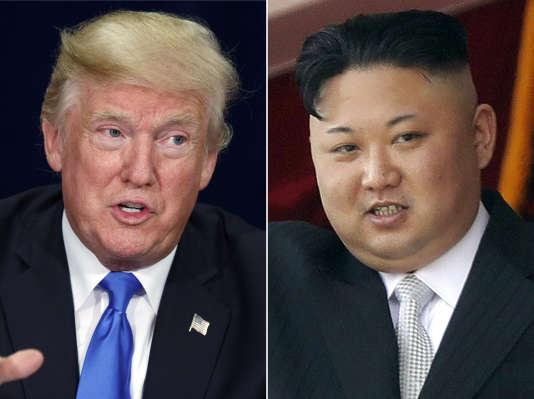 Le président américain, Donald Trump, le 25 octobre, et le président nord-coréen, Kim Jong-un, le 15 avril.