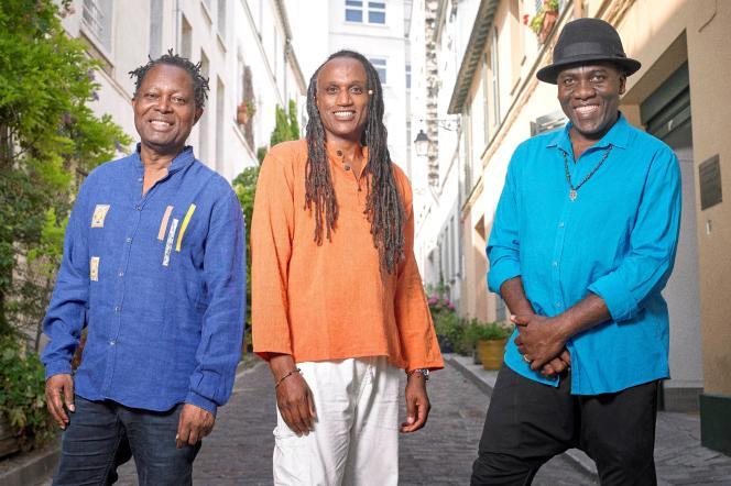 Le trio formé parGérald Toto, Richard Bona et Lokua Kanza.