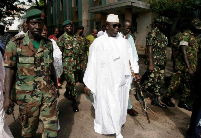 L'ancien dictateur gambien, Yahya Jammeh, en septembre 2006 à Banjul.