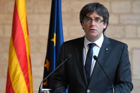 Le président de la région de Catalogne, Carles Puigdemont.