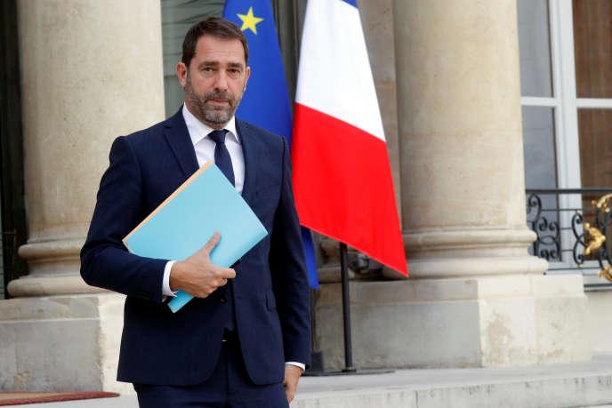 Le porte-parole du gouvernement, Christophe Castaner, à l'Elysée,le 18 octobre.