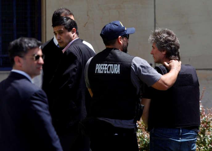 Amado Boudou arrive au palais de justice de Buenos Aires, le 3 novembre.