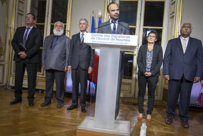 Edouard Philippe, à l'Hôtel de Matignon, à Paris, le 2 novembre.