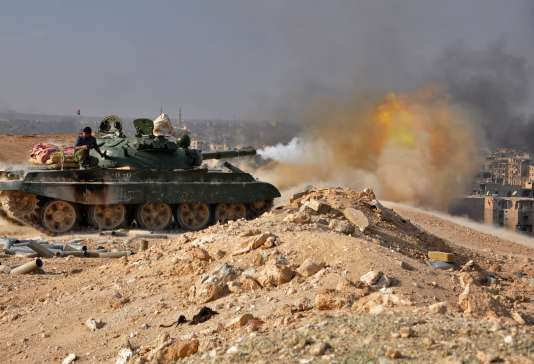 L'armée syrienne à l'offensive à Deir ez-Zor, le 2 novembre 2017.