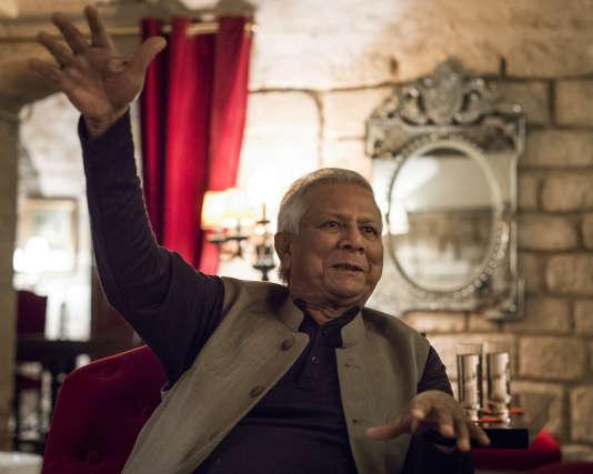 Muhammad Yunus à Paris, le 31 octobre 2017.