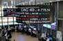 Cotations des sociétés de l'indice CAC 40 sur le site d'Euronext NV, à Paris (La Défense).