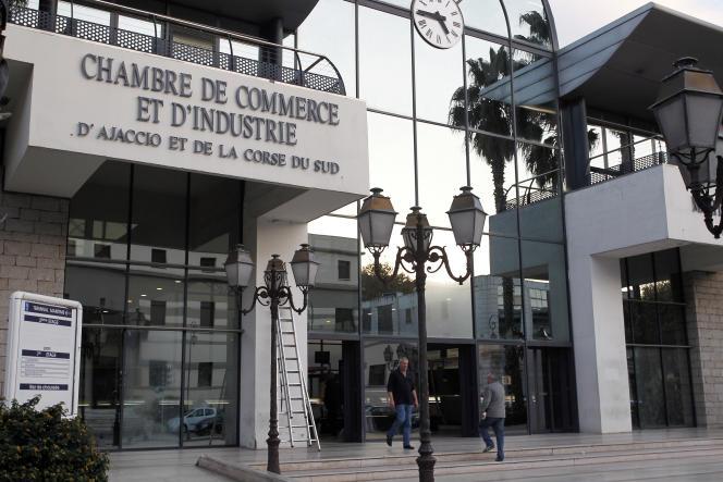 L'entrée de la CCI d'Ajaccio, en novembre 2012.