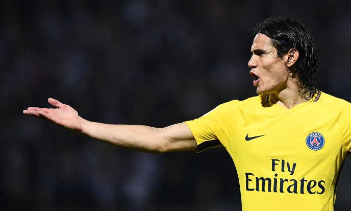 L'attaquant du Paris-Saint-Germain, Edinson Cavani, le 4 novembre 2017.