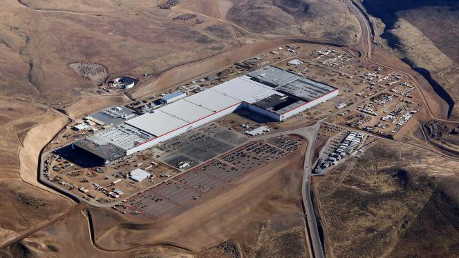 L'usine Tesla «Gigafactory» en janvier 2017