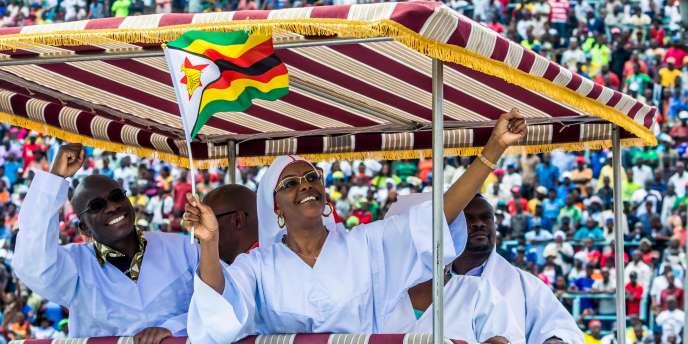 Grace Mugabe, le 5 novembre 2017 à Harare, lors d'une cérémonie religieuse organisée par la jeunesse de la Zanu-PF, le parti au pouvoir.