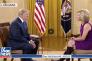 Donald Trump interviewé depuis la Maison Blanche par Laura Ingraham de la chaîne Fox News, le 2 novembre.