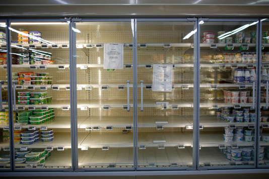 Dans un supermarché à Rezé (Loire-Atlantique), le 23 octobre.