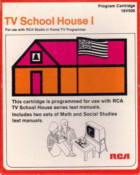 Jaquette de TV Schoolhouse, un jeu de quiz éducatif développé en 1976.