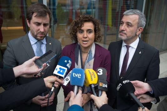 L'ancien ministre de la santé, Antoni Comin (à gauche).