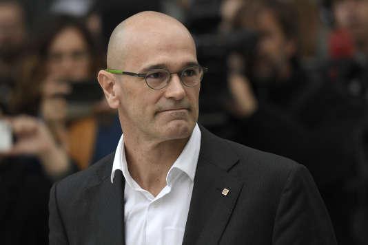 L'ancien conseiller aux affaires extérieures, Raül Romeva.