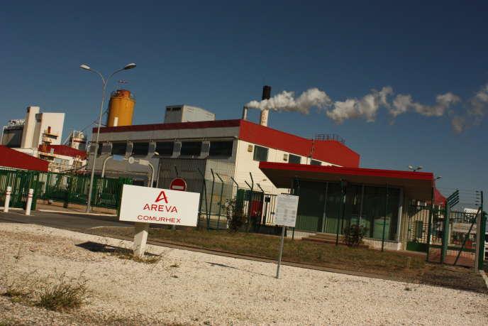 L'entrée de l'usine Areva Malvési.
