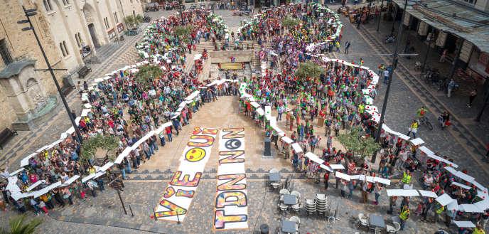 Manifestation contre le projet TDN Thor, à Narbonne, le 13 mai.